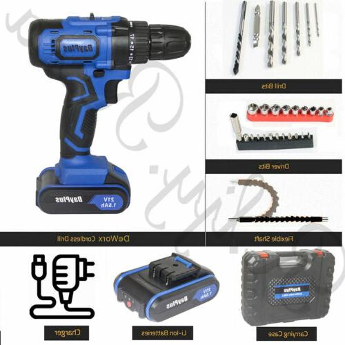 Drill Driver Electric With 2x