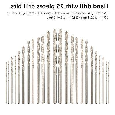 26Pcs Bits Pin Model Set Micro Twist Rotary Tools