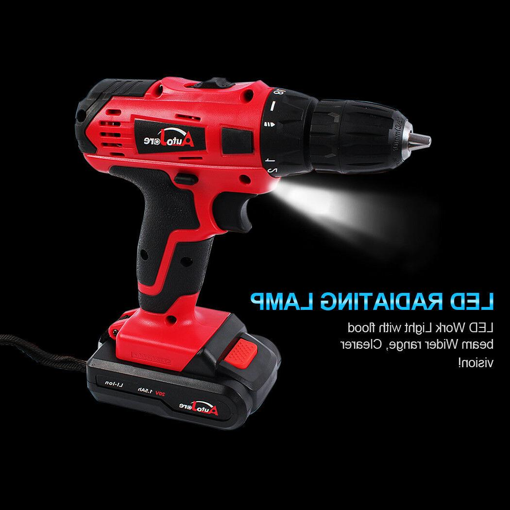 20V Powerful Cordless Electric Drill Charger Brushed