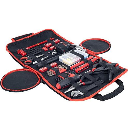 Household Hand Piece Tool Set Roll-Up - Great Home or Car