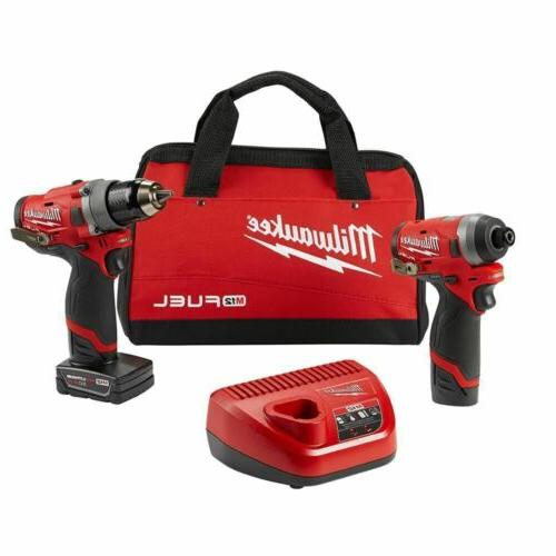 Milwaukee M12 FUEL 12-Volt Lithium-Ion Brushless Cordless Dr