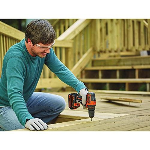 Black & Decker 20V Cordless 3/8 in. 2-Speed Drill Driver