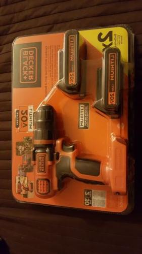 black and decker 20v compact cordless drill
