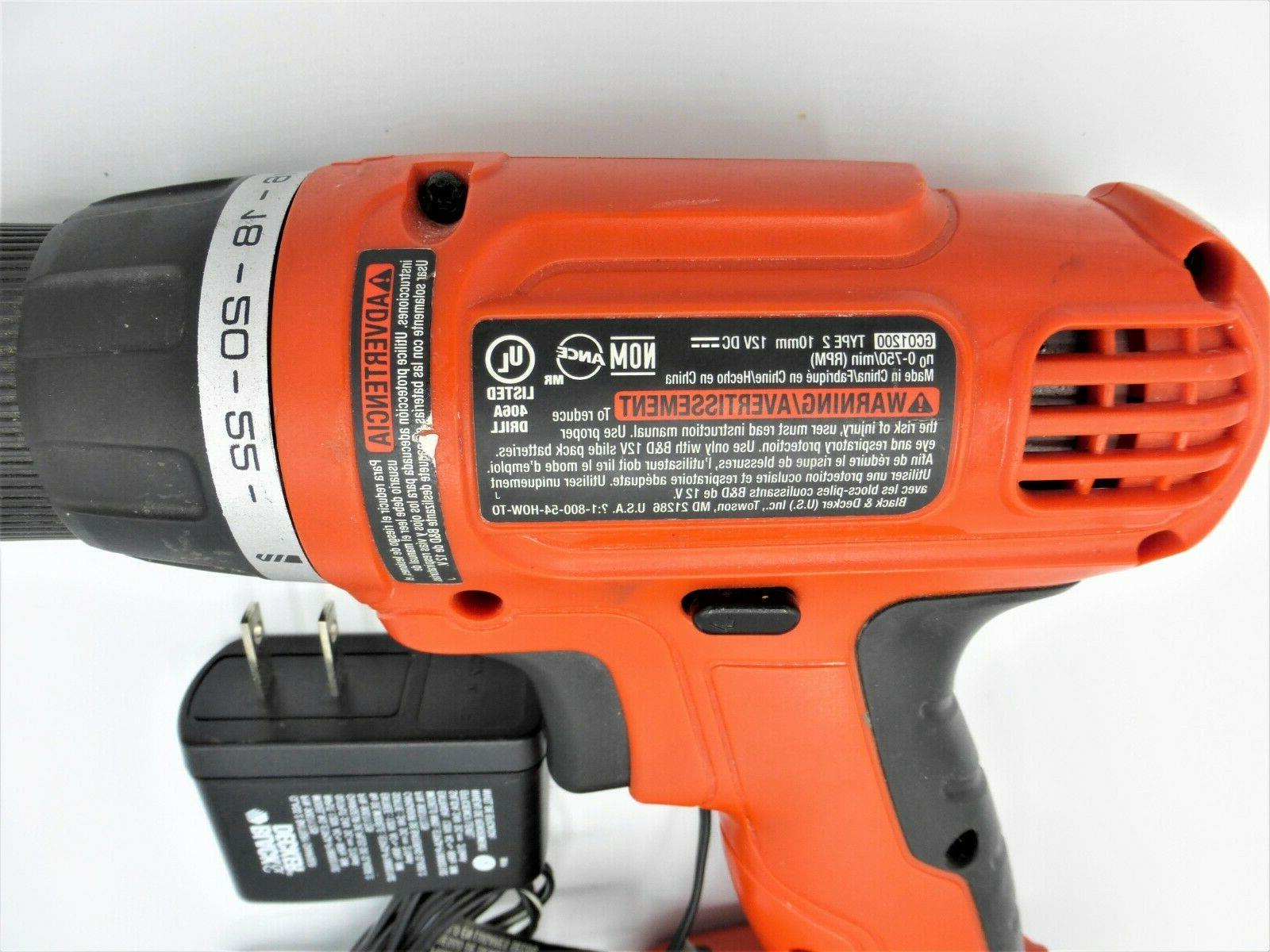 Black & GC01200 12 Drill With Battery &