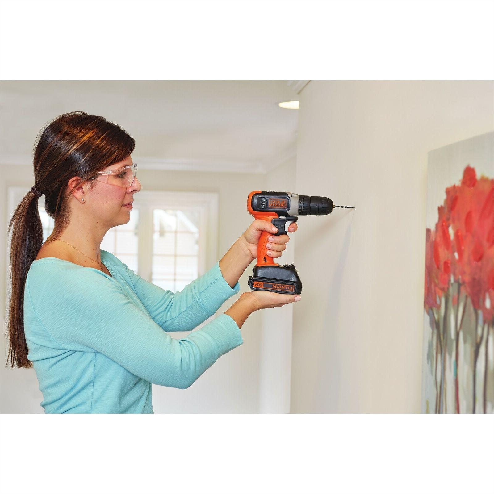 BLACK+DECKER 20-Volt Cordless Drill With Batteries BCD702C2BWM