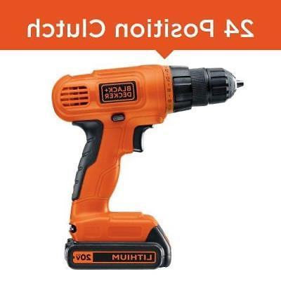 BLACK+DECKER Lithium Drill/Driver with Accessories