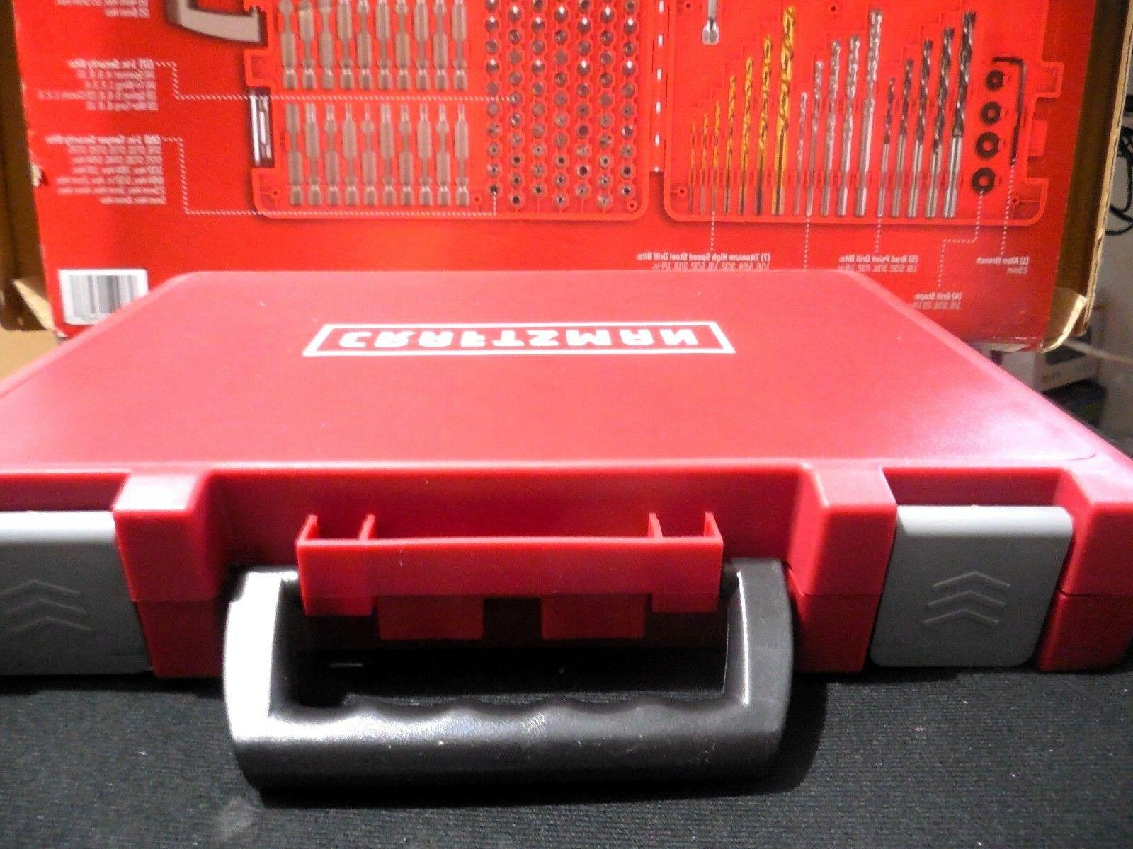 Brand New CRAFTSMAN Drill Set Accessory Kit in HARD CASE