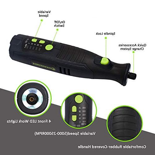 HAWKFORCE Cordless Tool,5 Front LED with DIY Creations