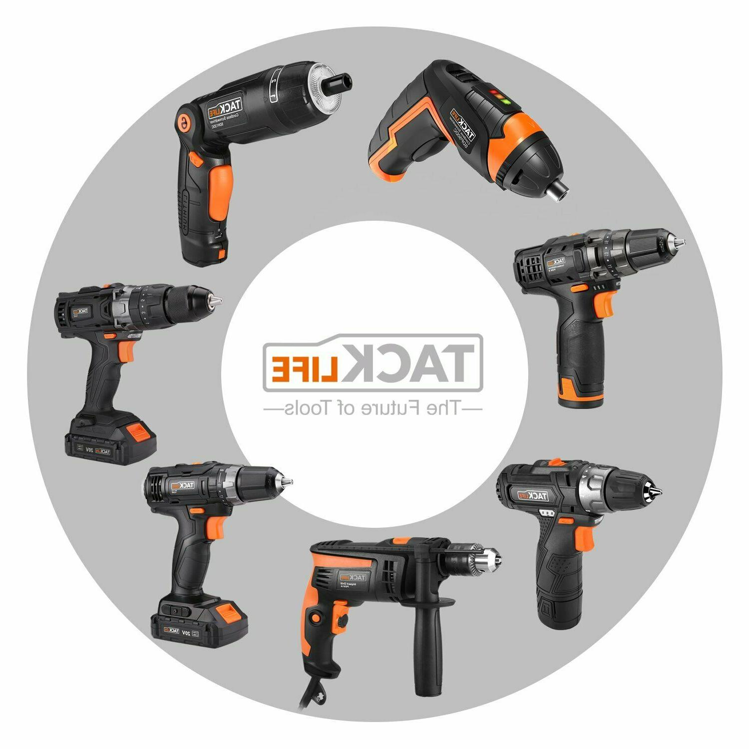 Drill, 20V Drill Driver with Hammer Action 43pcs