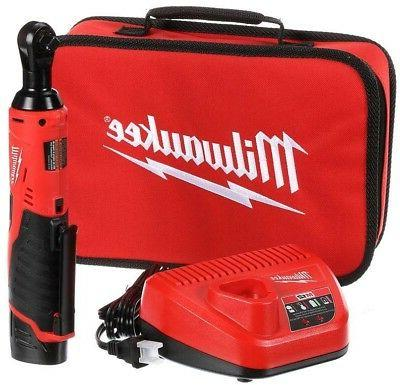 Milwaukee 2457-21 3/8-in Cordless M12 Lithium-Ion Ratchet Ki