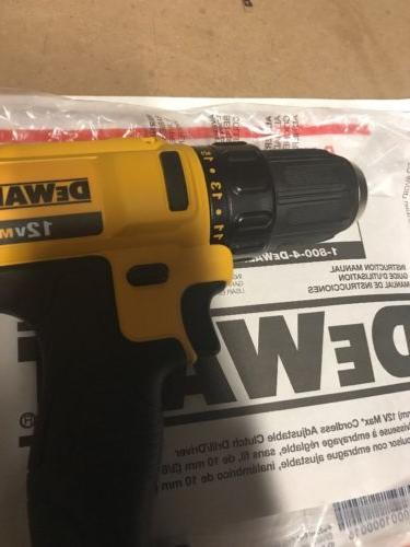 Dewalt DCD710 12V Li-Ion 3/8in Compact Drill Driver New-TOOL