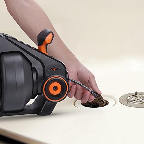 """TACKLIFE MAX Li-Ion, Flexible Automatic Drain Clog Remover for 3/4"""" to in Power Tool"""