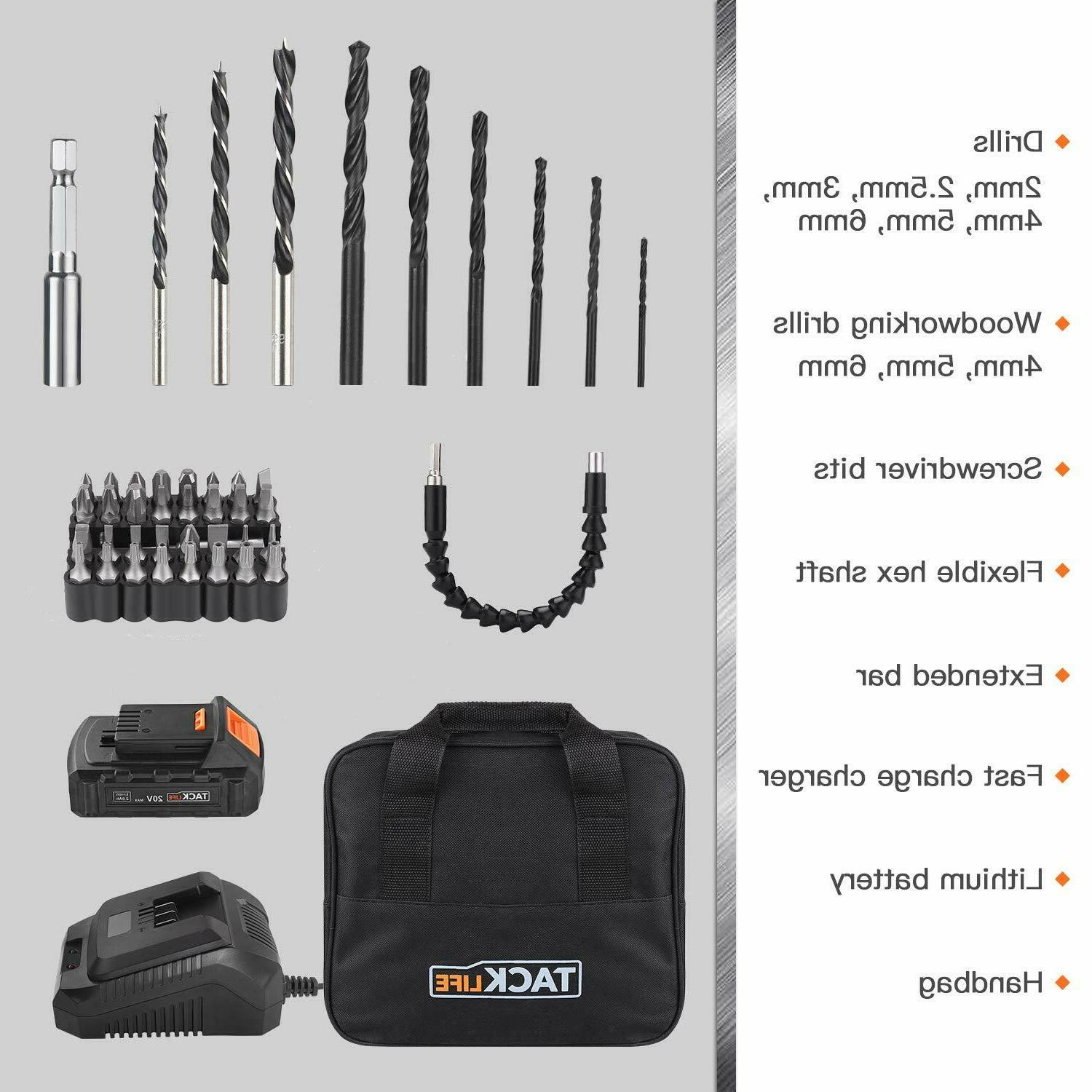 """Drill, 1/2"""" Drill Driver Set with"""