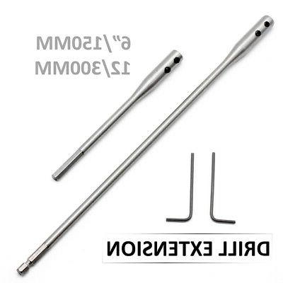 2pcs Drill Bit Extension Bar Tools Kit 6/12 Inch Paddle For