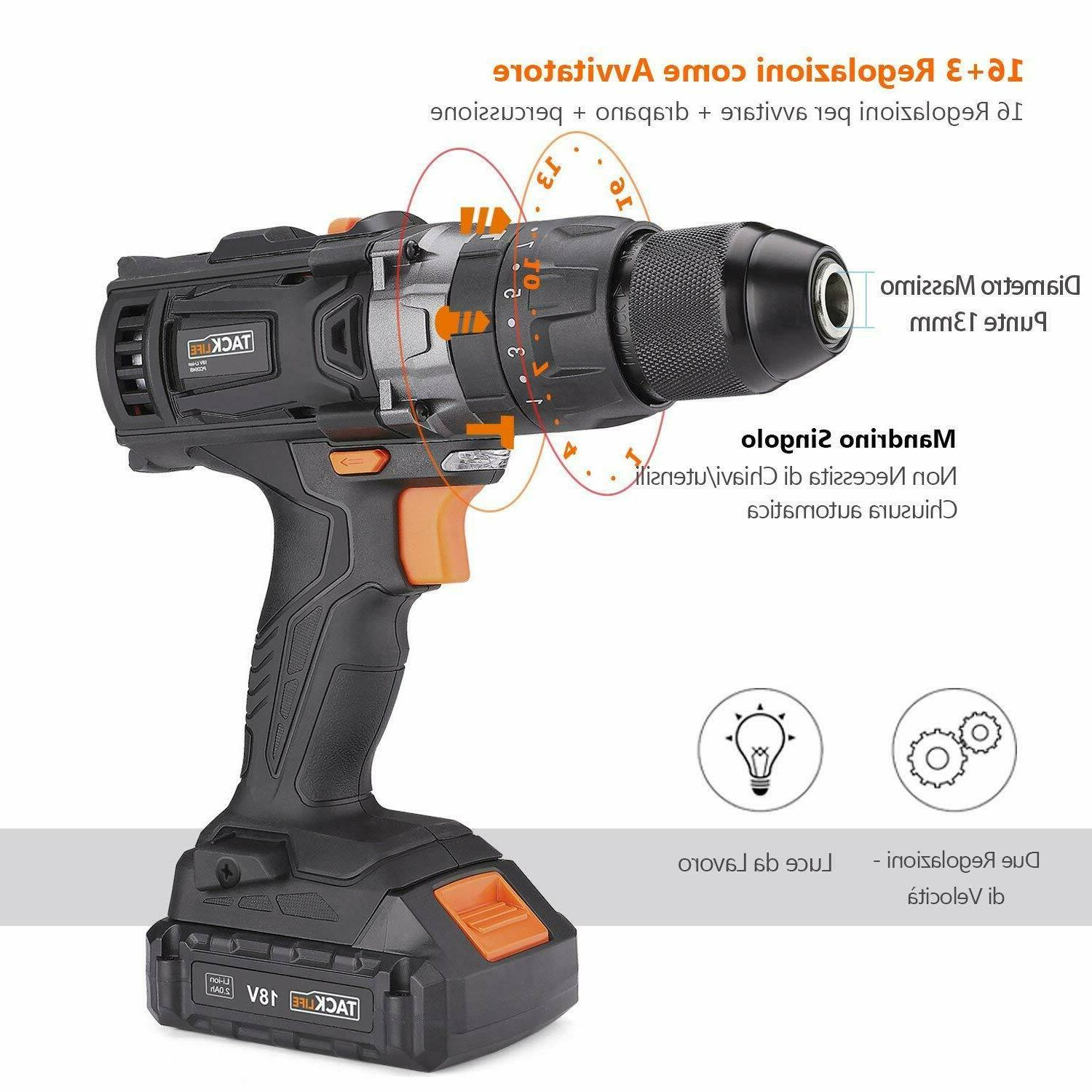 Drill Screwdriver Tacklife 2 with
