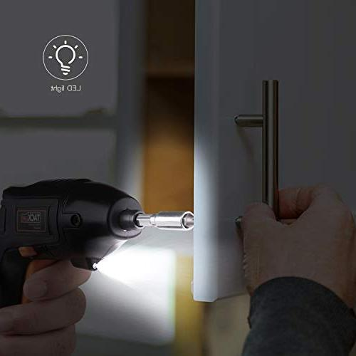 Electric Screwdriver, Screwdriver Li-on Battery with Pcs Bonus Screw for Home and Fit Newbies and Front Light-SDP60DC
