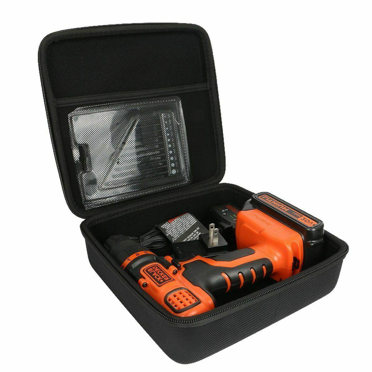 Hard Case Black For BLACK+DECKER Lithium Ion Cordless Drill