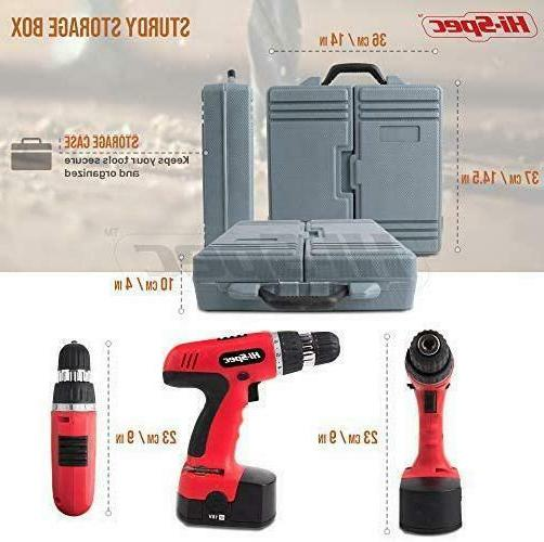 Hi-Spec Cordless Speed Drill Driver With 89 Dril