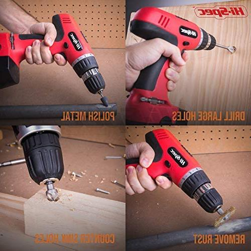 Hi-Spec 18V Cordless Speed Driver With Dril