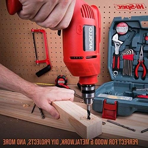 Hi-Spec Complete 130pc 300W Power Drill Hand Set Combo Kit with