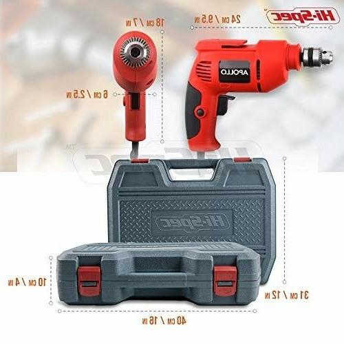 Hi-Spec 300W Power Drill Hand Tool Set Combo Kit with