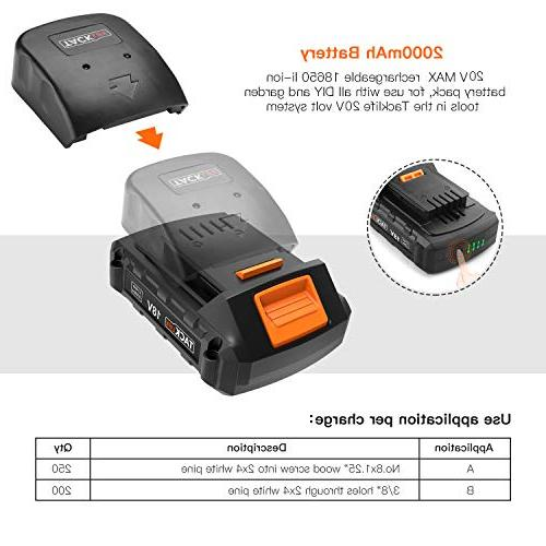 """Cordless Drill Lithium-Ion Battery with Action 1/2"""" Metal Auto-locking 2-Speed Max and Position with"""