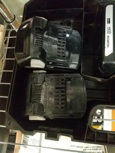 Metabo HPT with two extra batteries in a case.