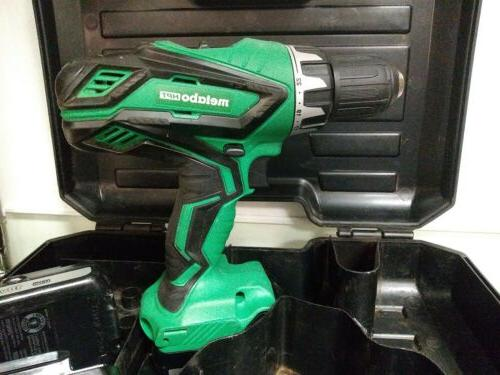 Metabo HPT drill with batteries case.