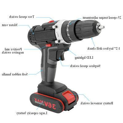 Multifunctional Cordless Drill High-power Rechargeable S8V6