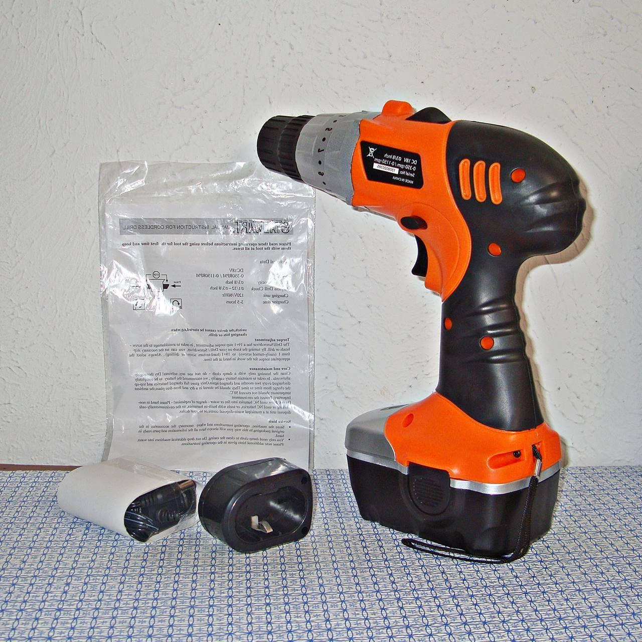 New Stalwart 18V Drill with ..