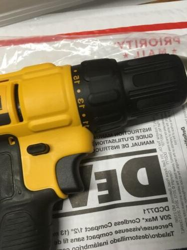 """New 1/2"""" Drill Driver DCB204"""