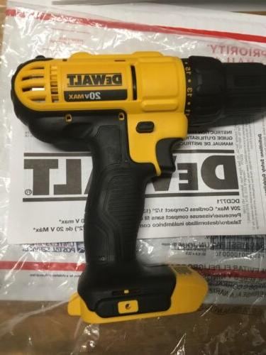 "New 1/2"" Drill 20 DCB204"