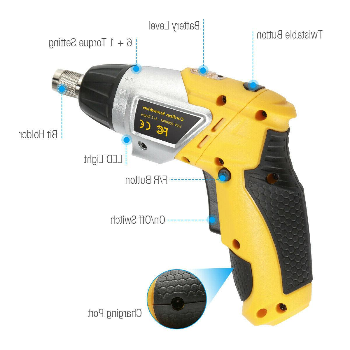 Electric Screwdriver Battery Drill w/Led
