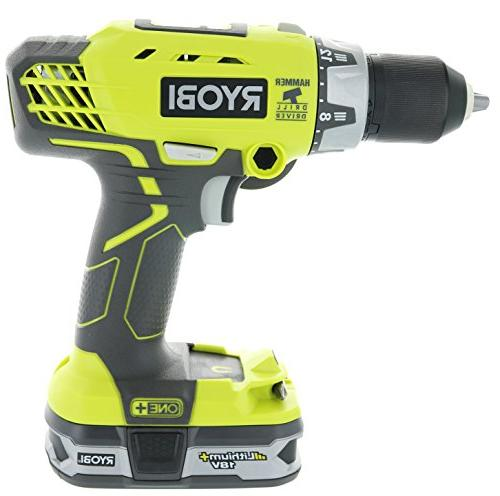 Ryobi P1812 Lithium Inch Pound Drilling Combination Kit