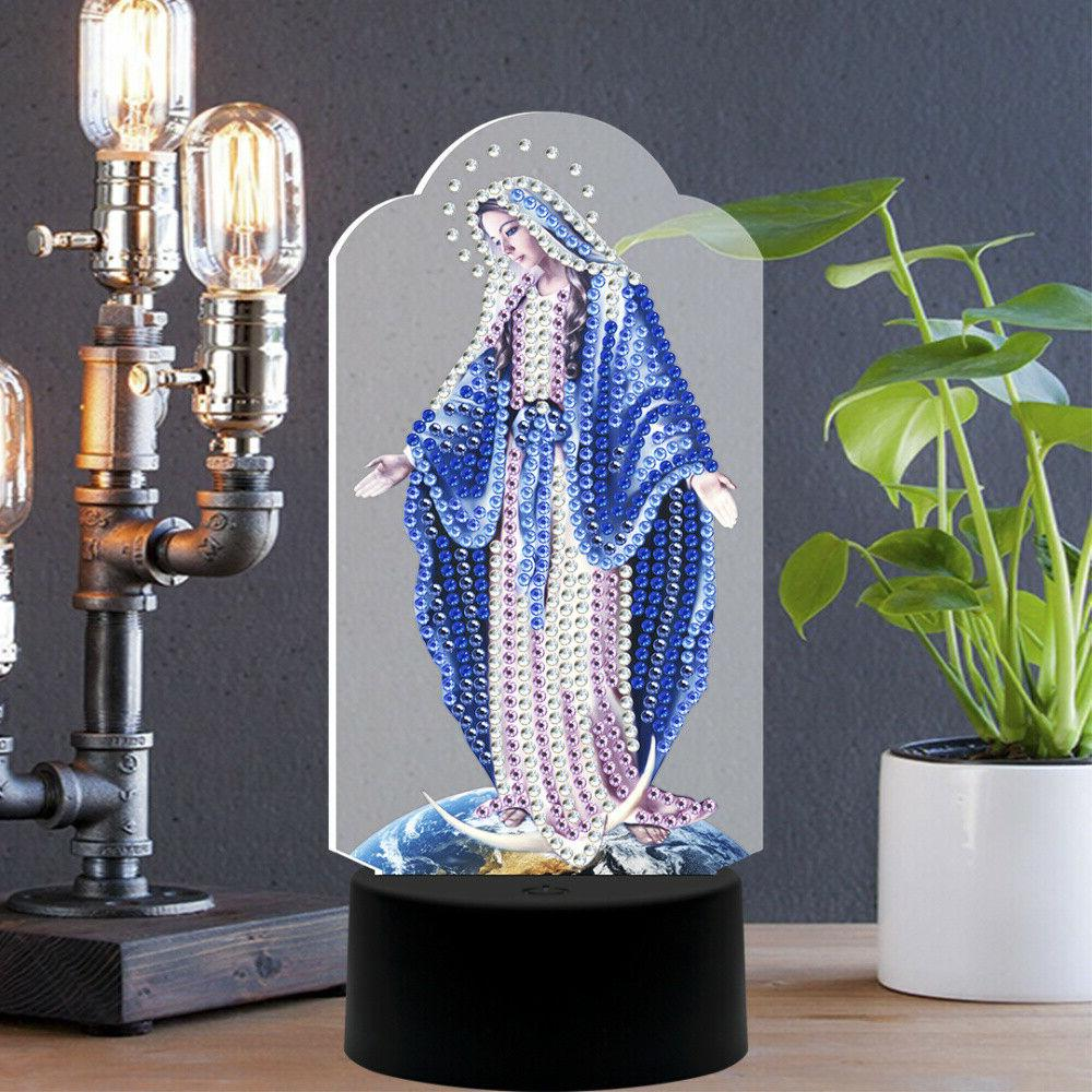 partial drill diamond mother maria painting led