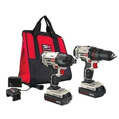 PORTER MAX 2-Tool Cordless Drill/Driver and Driver Kit