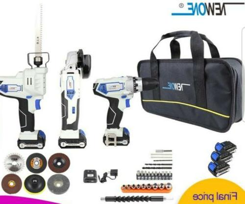 power tool set drill grinder and hand