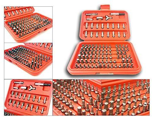 100pc Security Torx Star Tamper Hex Key Phillips Tri