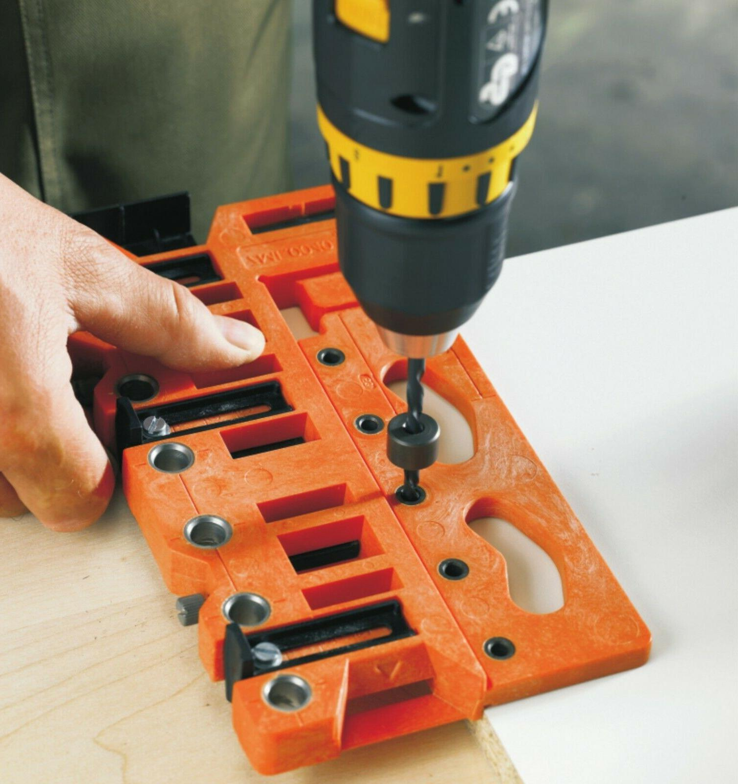 universal cabinet metabox drawer drill guide jig