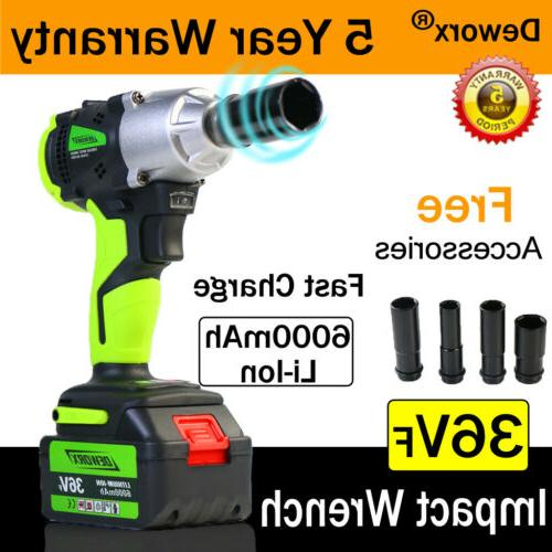 21V Cordless Electric Impact Wrench Ratchet Gun Nut  Sockets