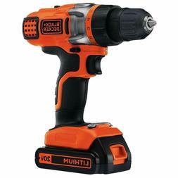 Black & Decker LDX220C 20V MAX Cordless Lithium-Ion 2-Speed