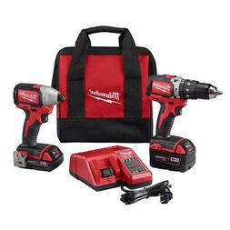 Milwaukee 2799-22CX M18 1/2 in. Hammer Drill and 1/4 in. Imp