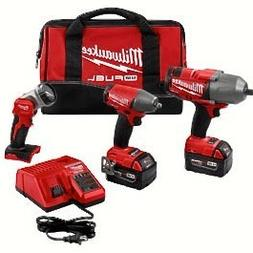 Milwaukee M18 Cordless Lithium-Ion Impact Wrench 3 Tool Comb