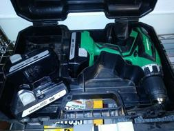Metabo HPT battery drill with two extra Hitachi batteries in