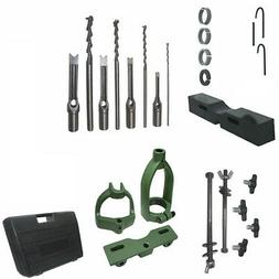 Mortising Attachment Kit Drill Press Tenon Joint 4 Bits And
