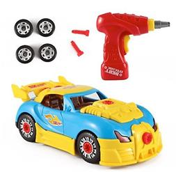 Mr.Fix.it Race Car Toy Take-A-Part Battery-Operated Drill Se