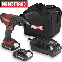 "NEW Craftsman 20V MAX 1/2"" Hammer Drill Kit with Battery & C"