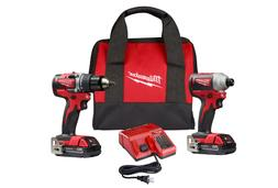 New Brushless Cordless Compact Drill/Impact Power Tool Kit S
