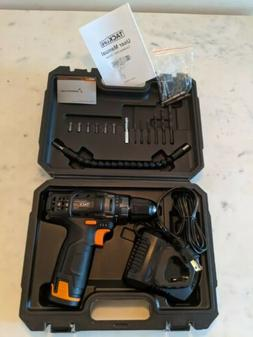New cordless drill with battery and charger