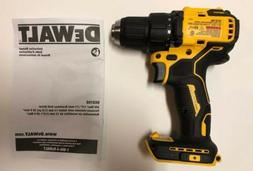 "NEW DEWALT DCD708 ATOMIC 20V 20 Volt Max Li-Ion 1/2"" Brush"